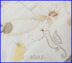 NEW Pottery Barn Kids ISABELLE MERMAID CASTLE Full/Queen F/Q Quilt + Euro Shams