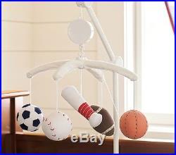 NEW Pottery Barn Kids Junior Varsity Crib Quilt Bumper Sham Skirt 6pc Set Sports