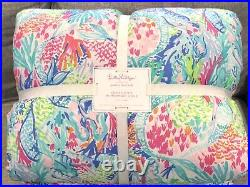 NEW Pottery Barn Kids Lilly Pulitzer Mermaid Cove Full/Queen Comforter Quilt