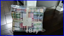NEW Pottery Barn Kids Madras Plaid Quilt Full-Queen Quilt