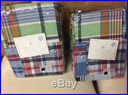 NEW! Pottery Barn Kids Madras blackout curtains 96inch, set of 2, extremely rare