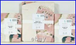 NEW Pottery Barn Kids Marigold Butterfly Full/Queen Duvet Cover & Shams, Blush