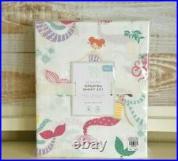 NEW Pottery Barn Kids Mermaid Organic FULL Sheet Set NWT