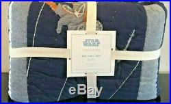 NEW Pottery Barn Kids Star Wars The Last Jedi Full/Queen Quilt, Death Star