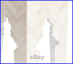 NIB Pottery Barn Kids Rachel Ashwell Bone Inlay Side table White