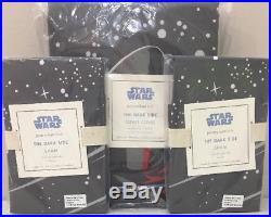 NIP 3P Pottery Barn Kids Star Wars THE DARK SIDE Duvet STANDARD Shams FULL/QUEEN