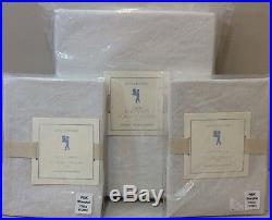 NIP 3P Pottery Barn Kids White LINEN Duvet Cover STANDARD Shams FULL/QUEEN