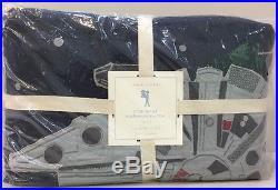 NIP 5P Pottery Barn Kids Star Wars MILLENNIUM FALCON Quilt Sheets Sham Set TWIN