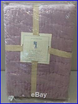 NIP Pottery Barn Kids Lavender SHIMMER VELVET Quilt FULL/QUEEN