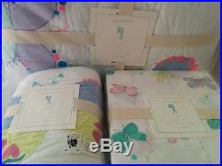 NWT 5p Pottery Barn Kids Lucy butterfly twin quilt standard sham Sheet set