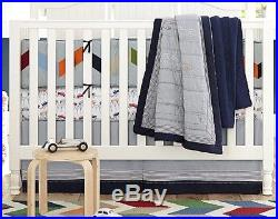 NWT Pottery Barn Kids 3Pc LANDON QUILT & Bumper + BRODY Crib SHEET CARS