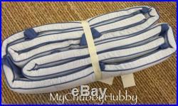 NWT Pottery Barn Kids 5Pc NANTUCKET PALM CRIB Quilt BUMPER Sheet+ BLUE ANCHOR