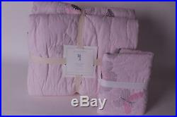 NWT Pottery Barn Kids Adelaide FQ quilt & 1 standard sham full queen f/q pink
