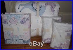 NWT Pottery Barn Kids Aria FQ quilt, 2 standard shams & QUEEN sheet set horse