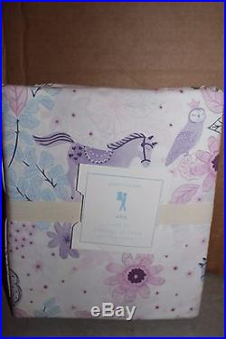 NWT Pottery Barn Kids Aria full sheet set sheets horse lavender blue