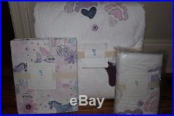 NWT Pottery Barn Kids Aria twin quilt, standard sham & sheet set