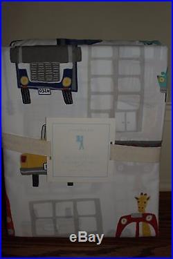NWT Pottery Barn Kids Autos queen sheet set sheets cars giraffe boys automobile