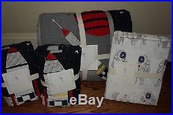 NWT Pottery Barn Kids Colton full quilt, 2 shams & sheet set astronaut space