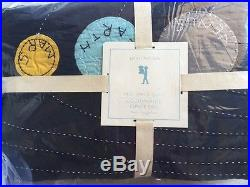 NWT Pottery Barn Kids Eric Outer Space twin quilt, sham & Nathan sheet set
