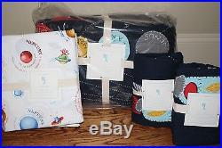 NWT Pottery Barn Kids Eric Space QUEEN quilt, 2 standar shams & Nathan sheet set