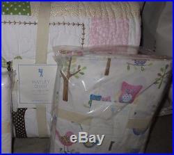NWT Pottery Barn Kids Hayley Owl twin quilt, sheet set & standard sham