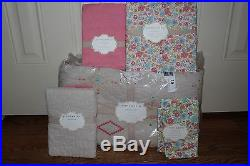 NWT Pottery Barn Kids Jenni Kayne Ripley twin quilt, floral duvet, shams & pcase