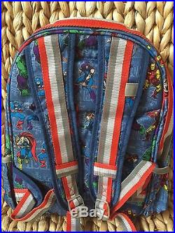 NWT Pottery Barn Kids Marvel Small Backpack Medium Water Bottle Retro Lunch Box