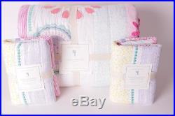 NWT Pottery Barn Kids Maya Dandelion FQ quilt & 2 euro shams full queen f/q