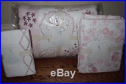 NWT Pottery Barn Kids Nicki quilt & 2 euro shams & QUEEN sheet set