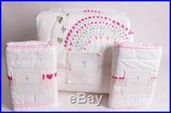 NWT Pottery Barn Kids Rainbow FQ quilt full queen f/q & 2 standard shams