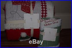 NWT Pottery Barn Kids Santa twin quilt & standard sham Christmas