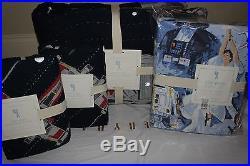 NWT Pottery Barn Kids Star Wars Millennium Falcon Full quilt, 2 sham & sheet set