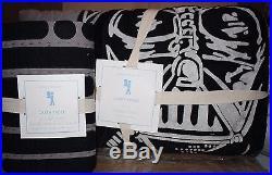 NWT Pottery Barn Kids Star Wars darth vader twin quilt, euro sham & pillowcase