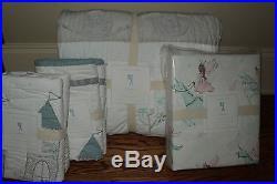 NWT Pottery Barn Kids Starla Ice Castle QUEEN quilt, 2 sham & sheet set princess