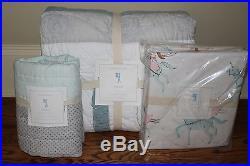 NWT Pottery Barn Kids Starla Ice Castle twin quilt, sham & sheet set princess