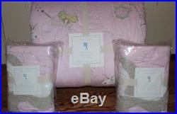 NWT Pottery Barn Kids Unicorn FQ quilt & 2 standard shams pink full queen f/q