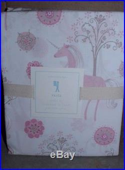 NWT Pottery Barn Kids Unicorn pink full sheet set