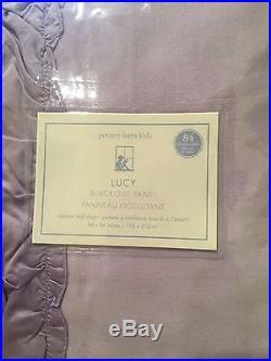 NWT Set/2 Pottery Barn Kids Lucy Velvet Blackout Curtains Drapes 44x84 Lavender