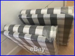 New 2 Pottery Barn Kids 84 Gray Blackout Buffalo Check Gingham Drapes Panels