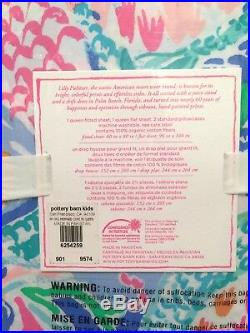 New Lilly Pulitzer Pottery Barn Kids Pillowcases Queen Sheets Set Mermaid's Cove