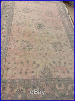New Pottery Barn Kids 8x10 Monique Lhuillier Antique Printed Rug Blush