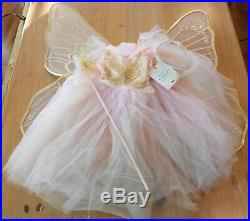 New Pottery Barn Kids BUTTERFLY FAIRY Pink & Gold Costume Dress Toddler 3T