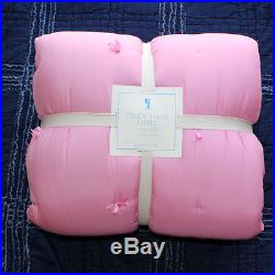 New Pottery Barn Kids Barbie sheet set Twin and Stacy's Silk Quilt pink 4pc