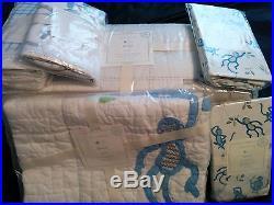 New Pottery Barn Kids Daniel Monkey crib bumper quilt Sheets Sham Set Organic 6p