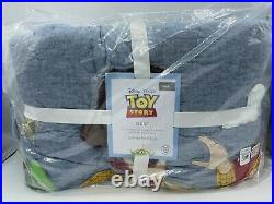 New Pottery Barn Kids Disney Pixar Toy Story Twin Quilt and 1 Standard Sham