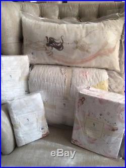 New Pottery Barn Kids Isabelle Castle Mermaid Full/Queen Quilt Shams FULL Sheet
