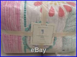 New Pottery Barn Kids Maya Dandelion Twin Quilt/1 Standard Sham Set! LAST SET