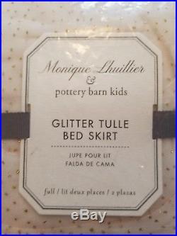 New Pottery Barn Kids Monique Lhuillier Glitter Tulle Full Bed Skirt