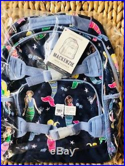 New Pottery Barn Kids Navy Mermaid Large Backpack Lunchbox Water Bottle Thermos