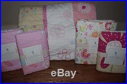 New Pottery Barn Kids Pink Daisy Garden Full quilt 2 st 2 eu, Garden Party sheet
